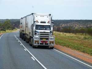 Truckie's shock as man walks over, disengages brakes