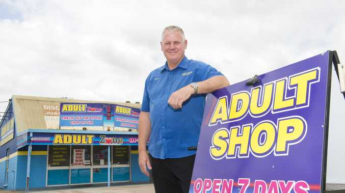 SEX SELLS: Matthew Gallagher,owner of the Adult Shop in Withcott. The shop is now on the market . Friday, 5th Jan, 2018.