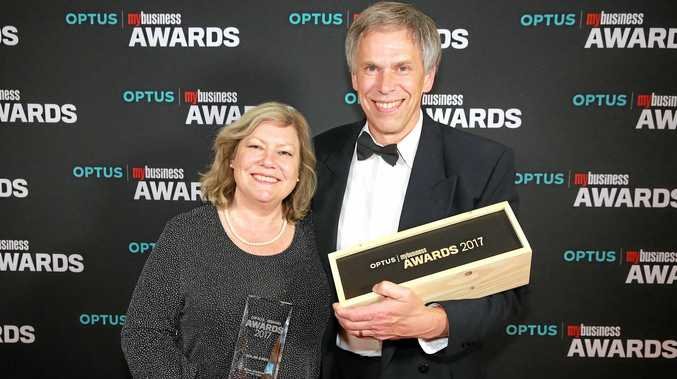 AUSSIE WINNERS: Trish and Phil Chapallaz won the Australian Retail Business of the Year award at the Optus My Business Awards.