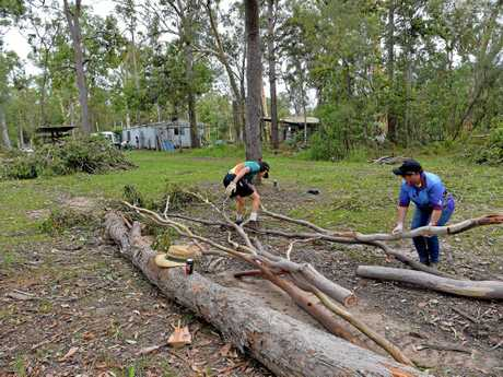 CLEAN-UP: The Rocky Creek Scout campsite was hit hard by storms in December.