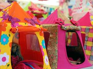 Gerry's created a magical world of tiny tents