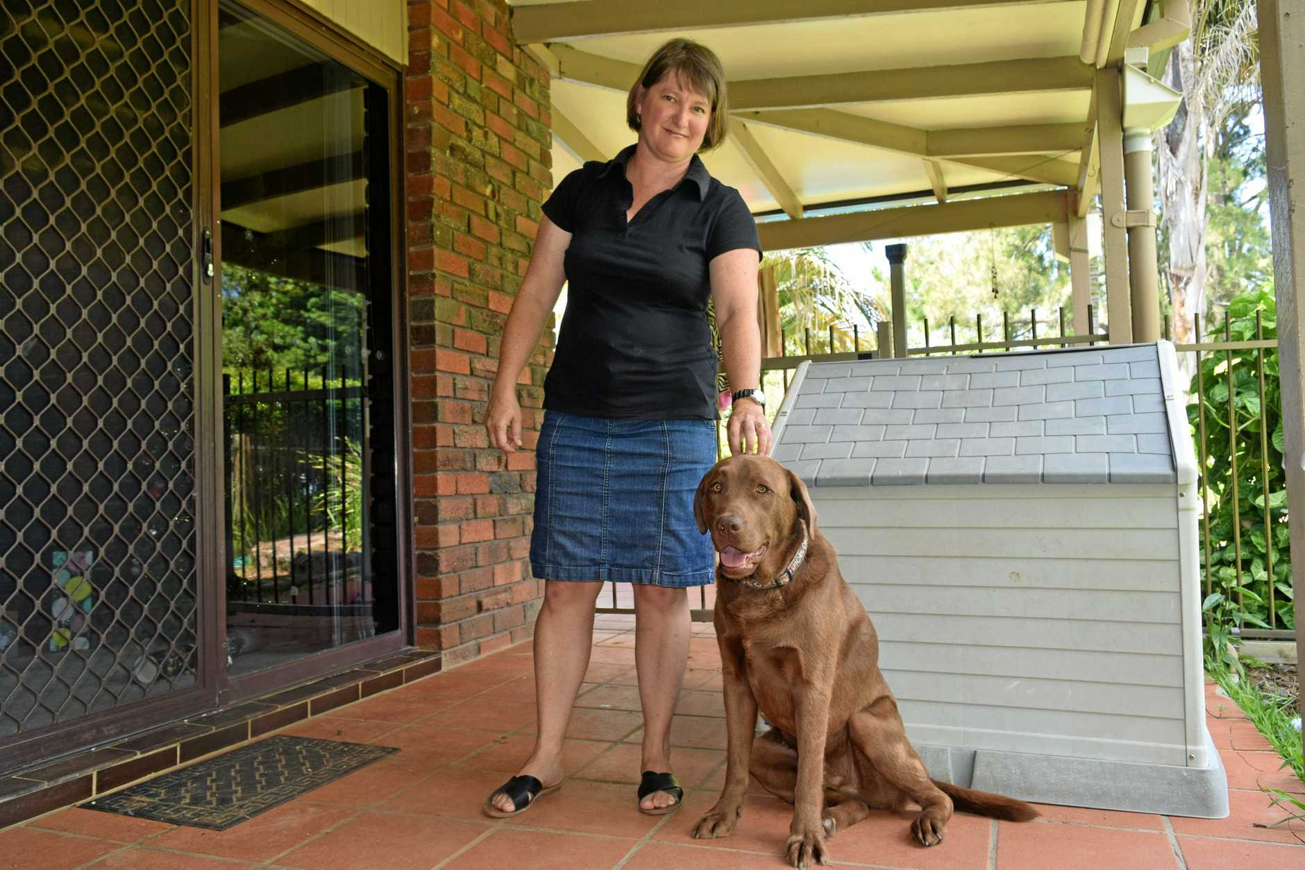 FAMILY MOVE: Libby Crispin, with dog Benji, will soon be moving to the Northern Rivers but has found finding a rental property next to impossible.