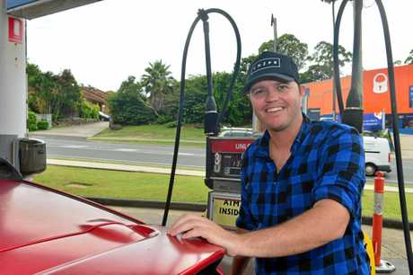 Fuel prices. Corey Rose of Longreach finds the prices on the Sunshine Coast reasonable..