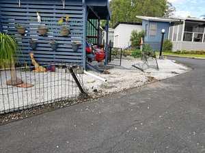 Drunken elderly woman arrested after crashing into home