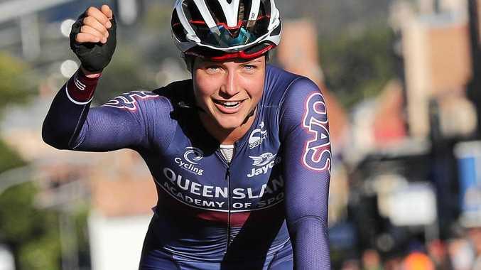 BRIGHT FUTURE: Kristina Clonan won the U23 criterium title at the  Cycling Australia Road National Championships.