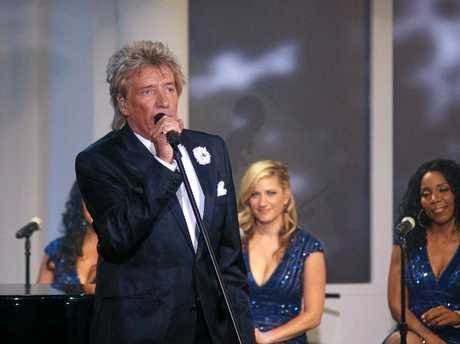 Rod Stewart during his Live to air Christmas Album promotion in 2012.
