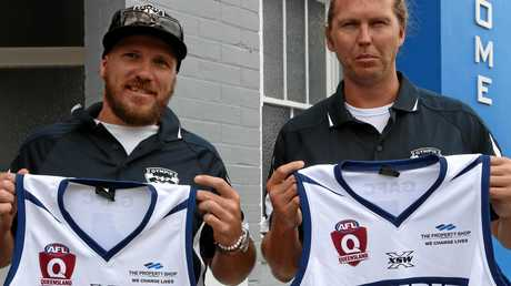 Gympie Cats assistant coach Scott English and head coach Courtney Findlay.