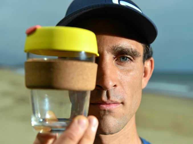 REUSE IT: Dylan Kuipersmith is waging war on single use coffee cups.