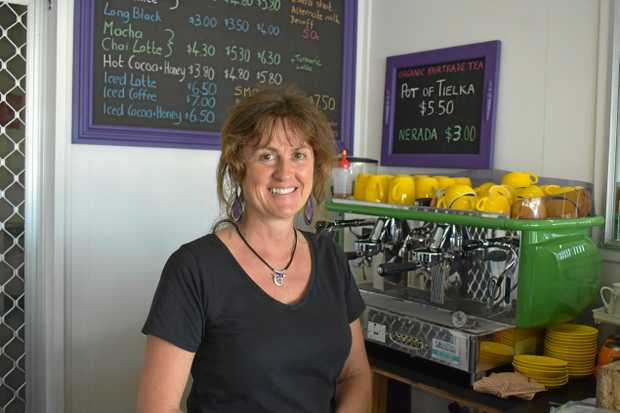 MOVING ON: Tina Kirkham, owner of The Cosmic Cafe will have her last day today.