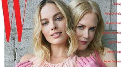 Nicole Kidman and Margot Robbie on W magazine.  Picture:  W Magazine