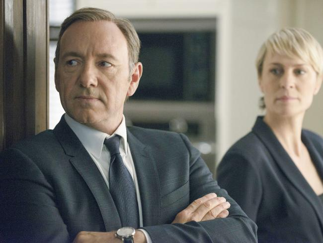 Kevin Spacey and Robin Wright in House of Cards.  Picture:  Nathaniel Bell