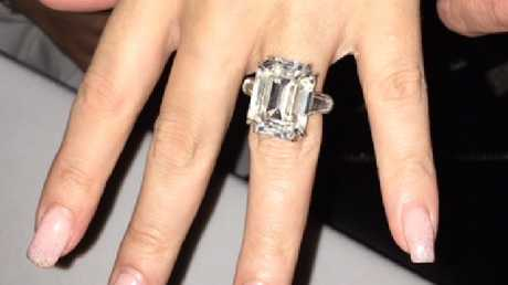 The 35-carat diamond $12.7 million engagement ring in question. Picture: Supplied