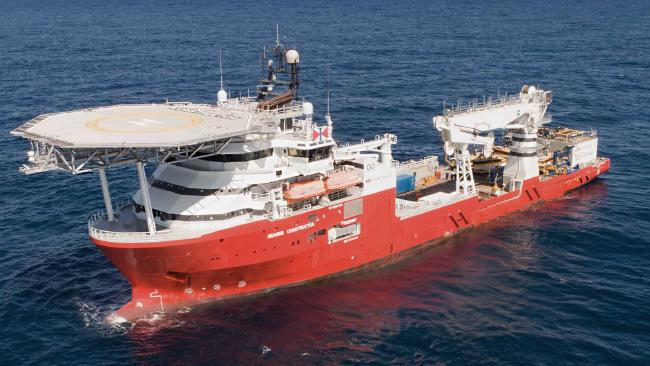 The Seabed Constructor is capable of scanning the new 25,000 sq km search zone, identified as most likely to contain MH370, in just 20 days. Picture: Swire Seabed