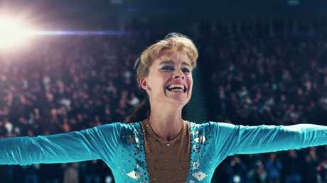 Margot Robbie as Tonya Harding in I, Tonya.
