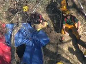 13-year-old boy rescued from mine shaft after dropping phone