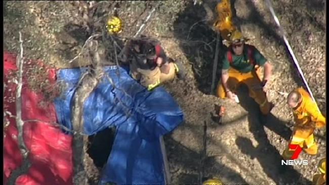 A teenager has fallen down a mine shaft in Warrandyte State Park. Picture: Channel 7