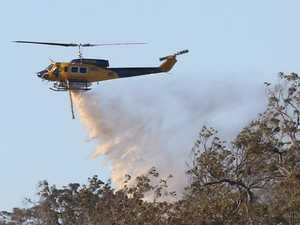 Water bombing chopper crashes