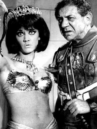 Amanda Barrie and Sid James in Carry On Cleo. Picture: Supplied