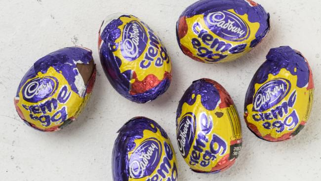 Supermarket staff have been accused of unwrapping Cadbury Creme Eggs in London in the hope of winning £2,000 (A$3,455). Picture: News Corp Australia