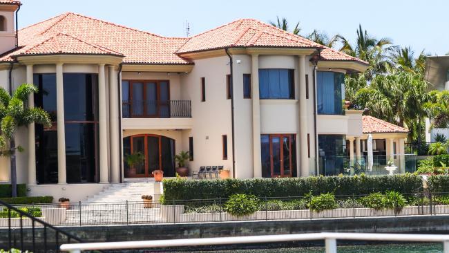 Clive Palmer's mansion at Sovereign Islands.