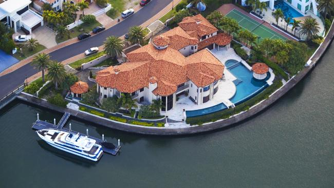 Clive Palmer's exclusive mansion on the Gold Coast. Picture: Nigel Hallett