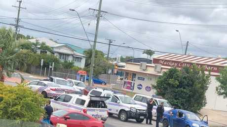 Police made a dramatic arrest in Mackay this afternoon.