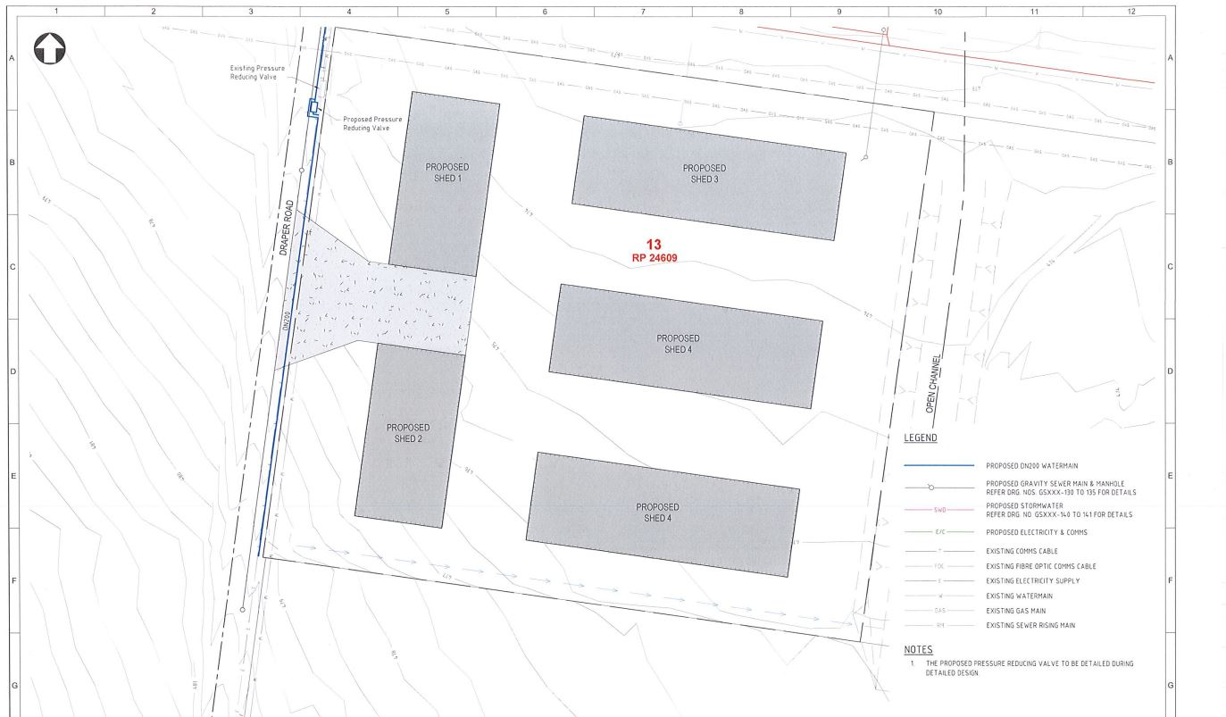 Freight depot approved by TRC along Nass Rd in Charlton.