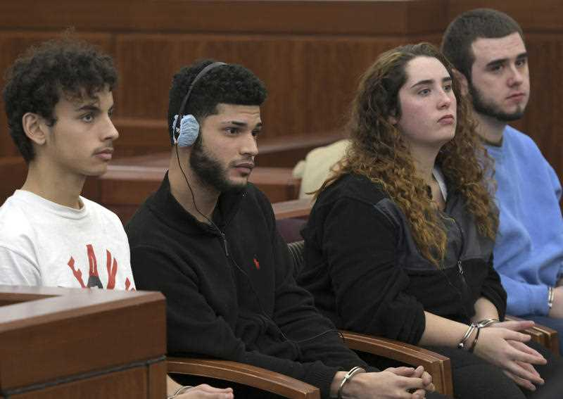 From the left; Yuleny Ortiz, Yariel Torres-Abee, Krystal Lugo, and Christopher Lugo. Defendant Krystal Lugo was held without bail. The hearings for three male defendants will continue until Friday.