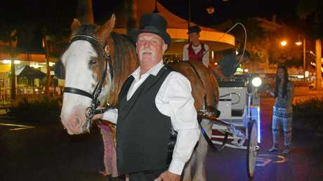 Steve May and Kenny the Clydesdale