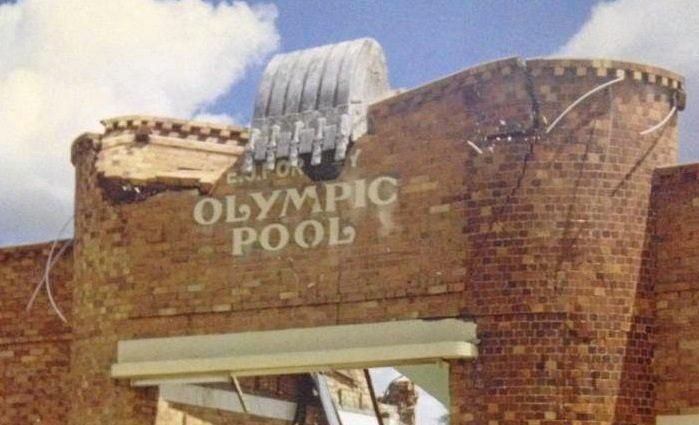 TOWN TRAGEDY: The EJ Portley Pool being demolished