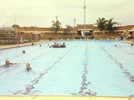 GREAT OUTDOORS: Locals loved to spend the day at the beautiful Olympic swimming pool in the heart of town.