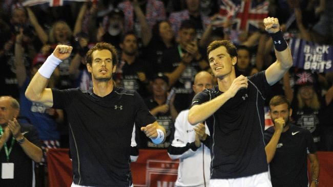 Jamie Murray with his brother Andy. Picture: Andy Buchanan/AFP
