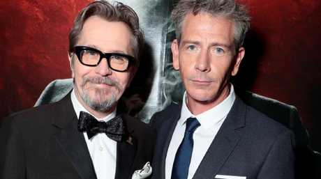 Oldman and Ben Mendelsohn out of character — both the Brit and the Australian are transformed in Darkest Hour. Picture: Universal Pictures