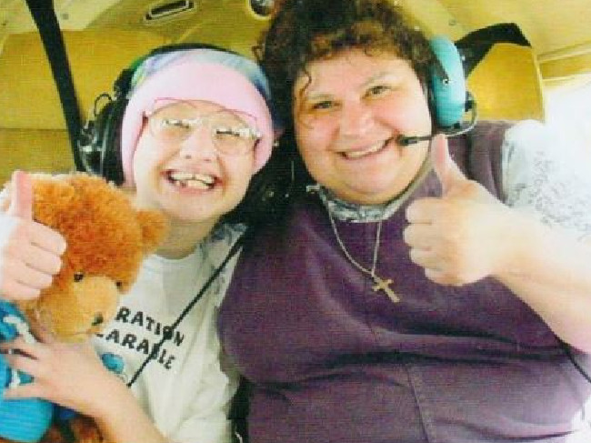 Gypsy and mum Dee Dee, who forced her to fake illness so the pair would receive sympathy and attention, a condition called Munchausen by proxy. Picture: Supplied