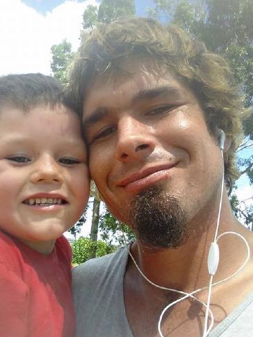 Cameron Calvisi and his father Robert.