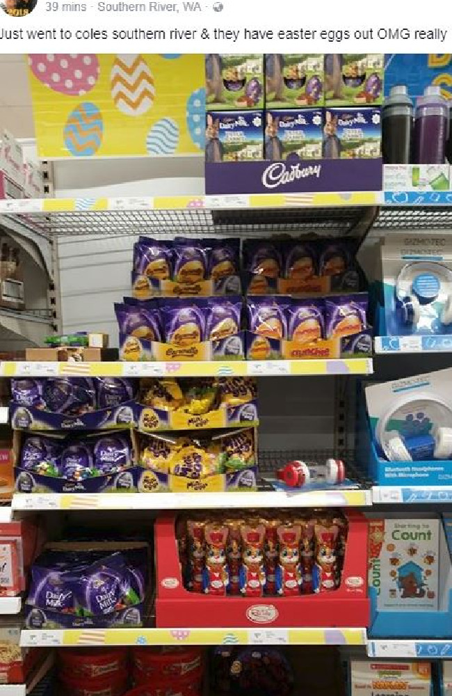More Easter Eggs spotted in Western Australia at Coles. Picture: Supplied