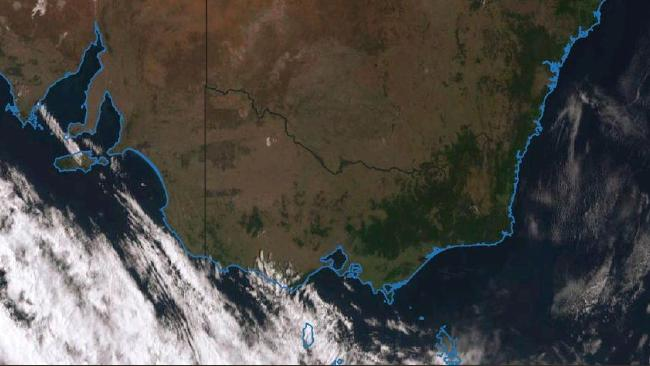 A cold front will bring relief from the hot weather for parts of Australia. Picture: BOM/Twitter