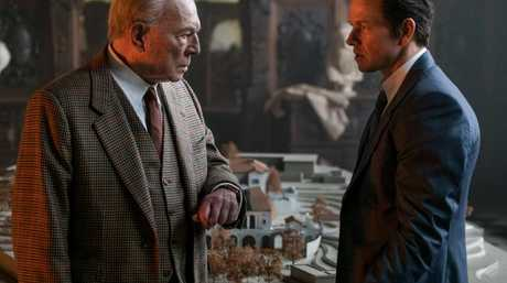 Plummer as Getty with Mark Wahlberg as the security expert initially sceptical of the kidnapping. Picture: Roadshow