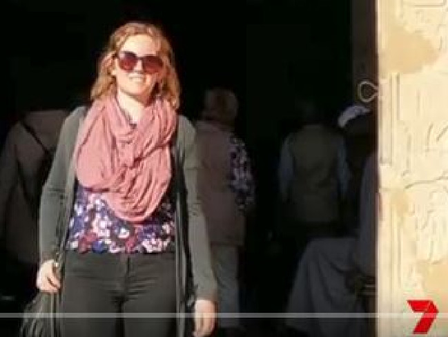 Emma Forster from Alice Springs was also on the hot air balloon. Picture: 7NewsSource:Supplied