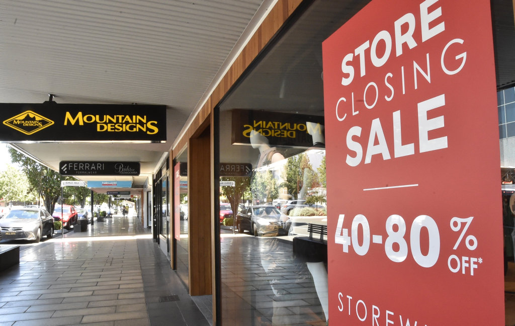 Toowoomba's Mountain Designs store will close on Wednesday.
