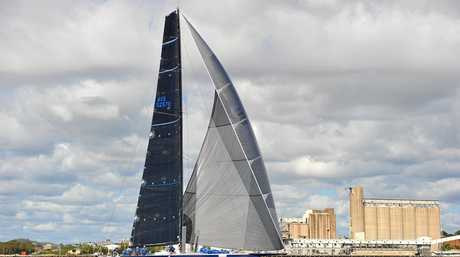 Black Jack heading for the finish line in the 2017 Brisbane to Gladstone yacht race.