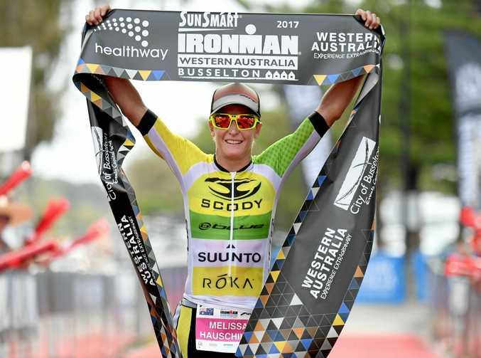 BIG YEAR: Mel Hauschildt won the 2017 Sunsmart IRONMAN Western Australia.