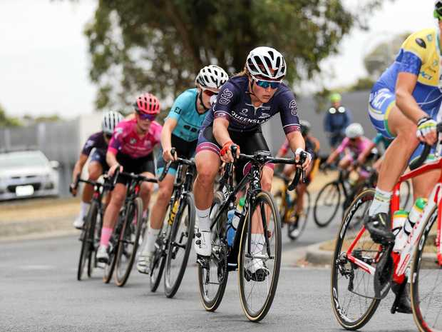Ballarat, Australia - JANUARY 6: Kristina Clonan during the 2018 Feduni Cycling Australia Road National Championships, U23 & Elite Women 104.4km Road Race (9 x 11.6km laps) in Buninyong, Ballarat, Australia, on January 6, 2018. Photo Credit: CON CHRONIS