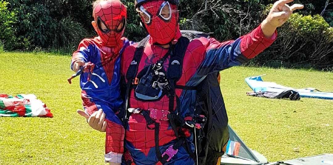 Northern Rivers Handgliding and Paragliding Club got into fancy dress at Lennox Head on Sunday.