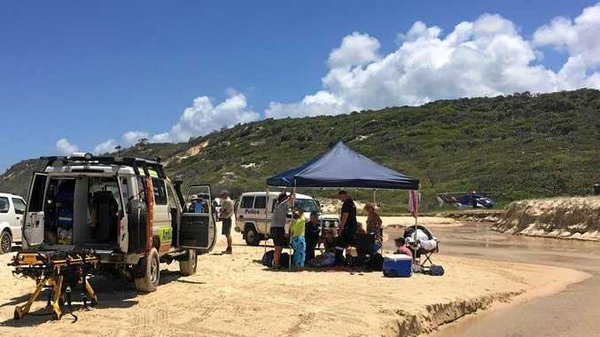 ISLAND RESCUE: A serious vehicle incident on Fraser Island was one of four weekend rescues on the island which ultimately required the RACQ Lifeflight Helicopter Rescue service, a spokesman said.