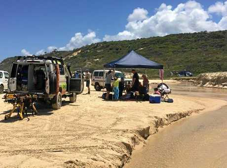 A serious vehicle incident on Fraser Island was one of four island rescues carried out by the RACQ Lifeflight Helicopter Rescue service at the weekend.