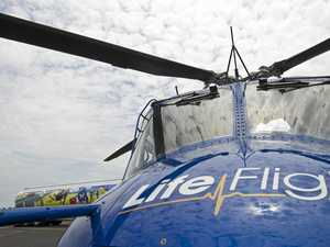 Motorcycle rider airlifted to Brisbane