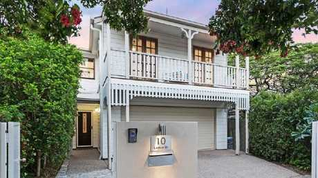 This replica Queenslander at 10 Lindsay St, Hawthorne, has just sold. Picture: realestate.com.au.