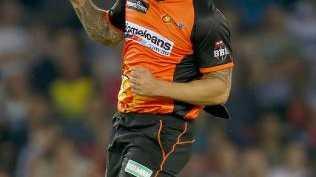 Perth Scorchers paceman Mitchell Johnson.