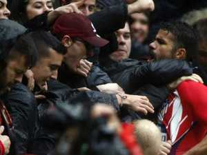 Costa's wild celebration leads to red card